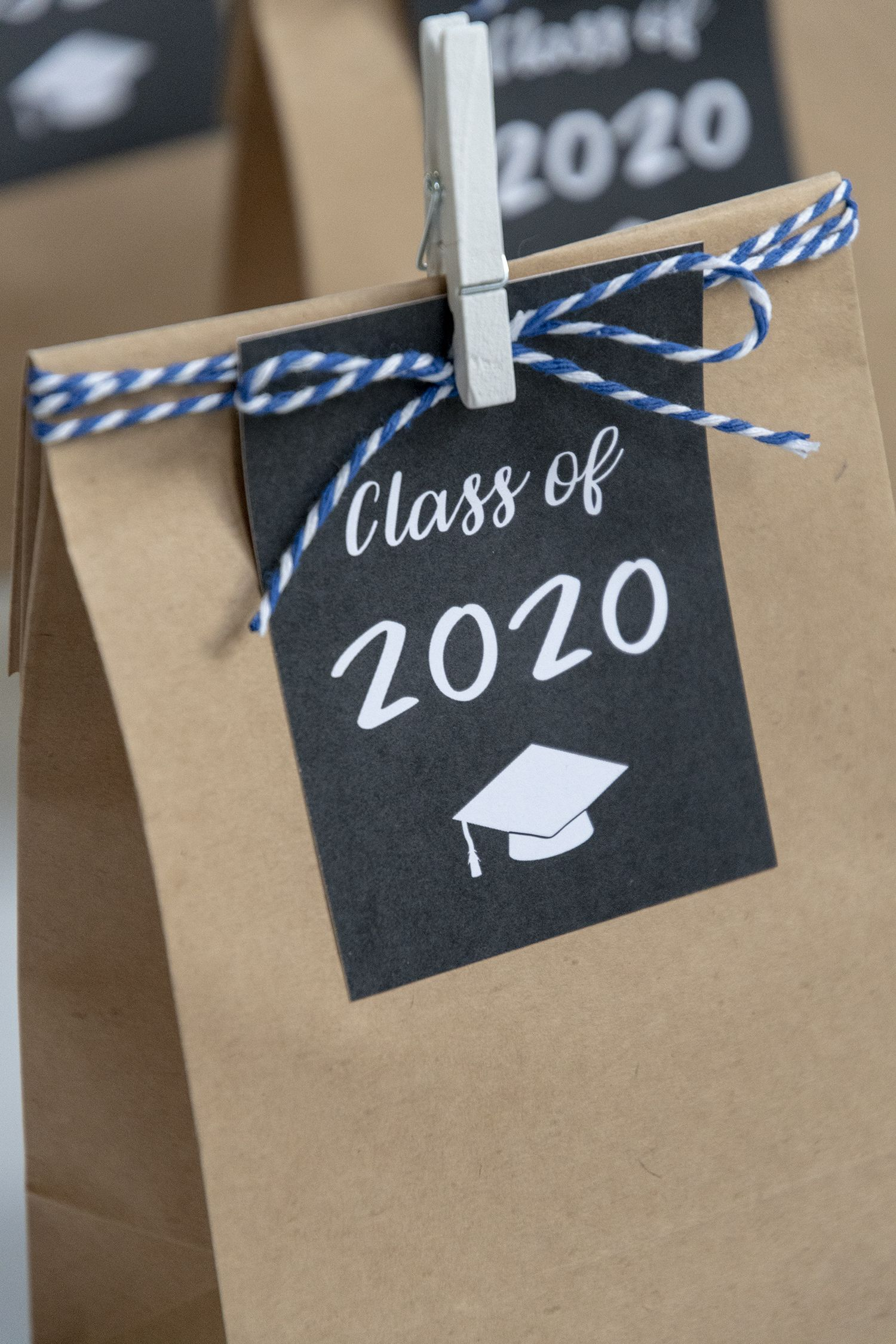 Free printable class of 2020 graduation gift tags in 2020