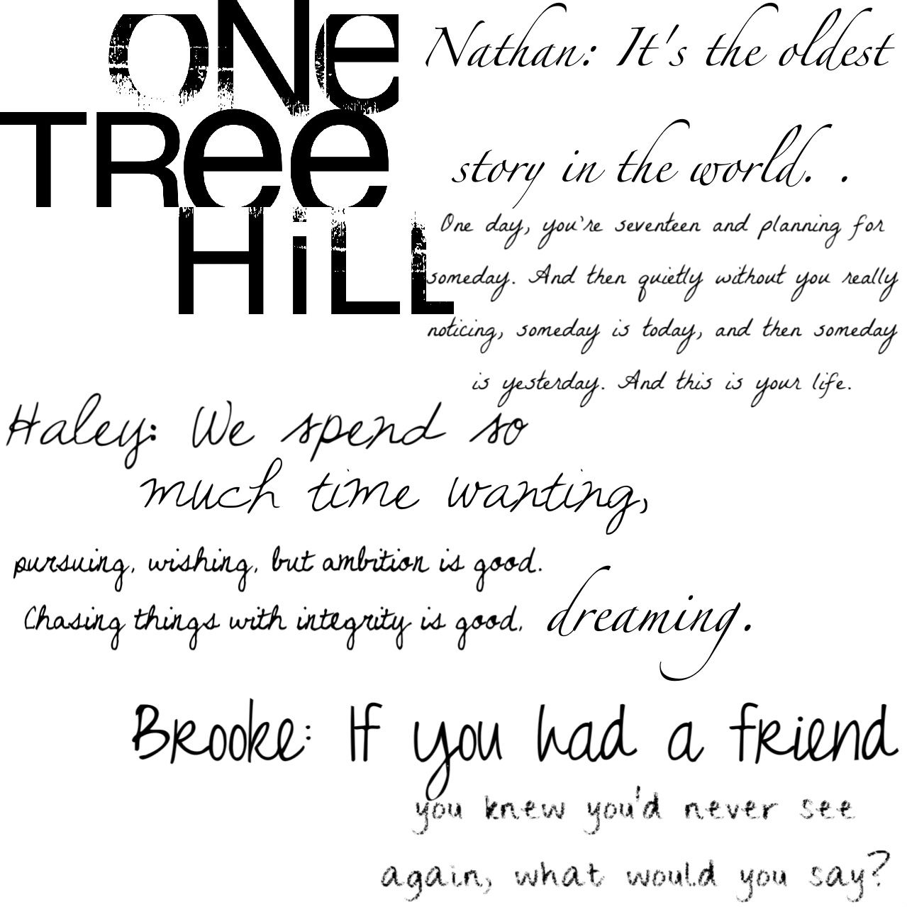 I miss one tree hill. So sad Peyton, Lucas, & Sawyer left :( but I'm happy with Brooke & Julian & their twin boys, & Nathan, Haley, Jamie, & Lydia