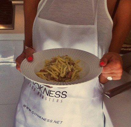 Trofie porro e speck. #Pasta Tutta la ricetta su: http://www.cookness.net/