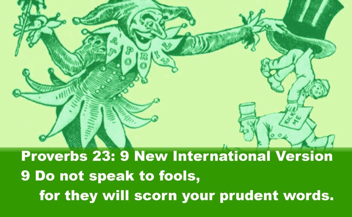 Proverbs New International Version Do Not Speak To Fools - 23 new words