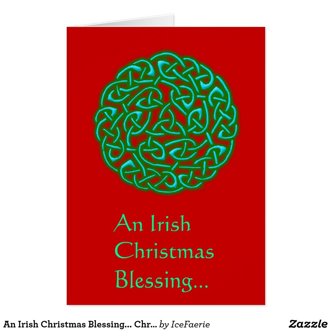 An irish christmas blessing christmas card happy holidays an irish christmas blessing christmas card kristyandbryce Images