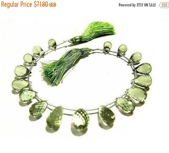 55% OFF SALE 8 Inches Genuine AAA Green by GemsAndBeadsEmporium
