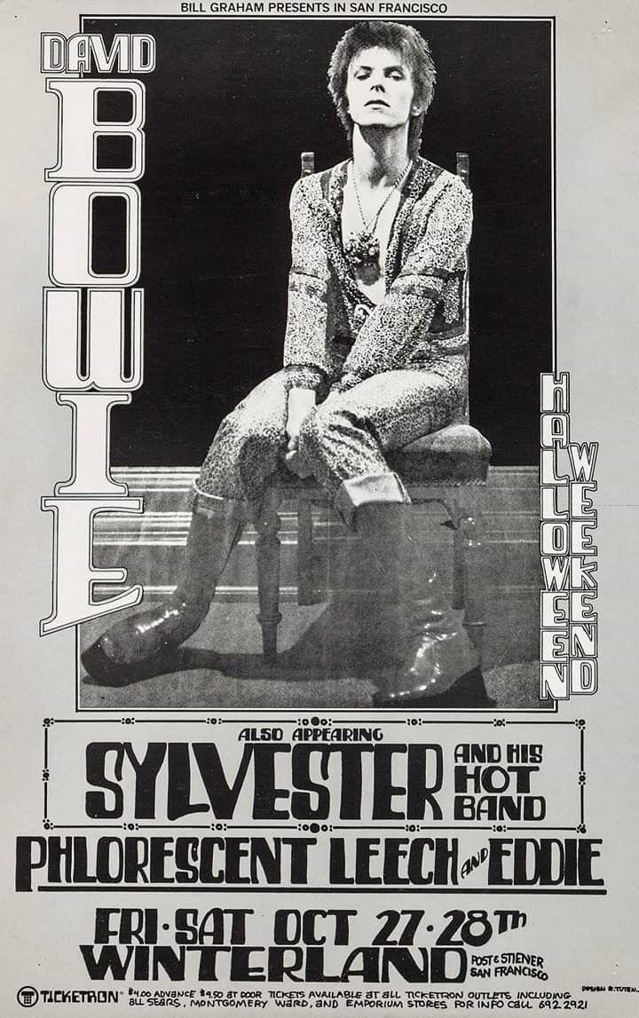 Bowie at Winterland, 1972. Artist Randy Tuten David