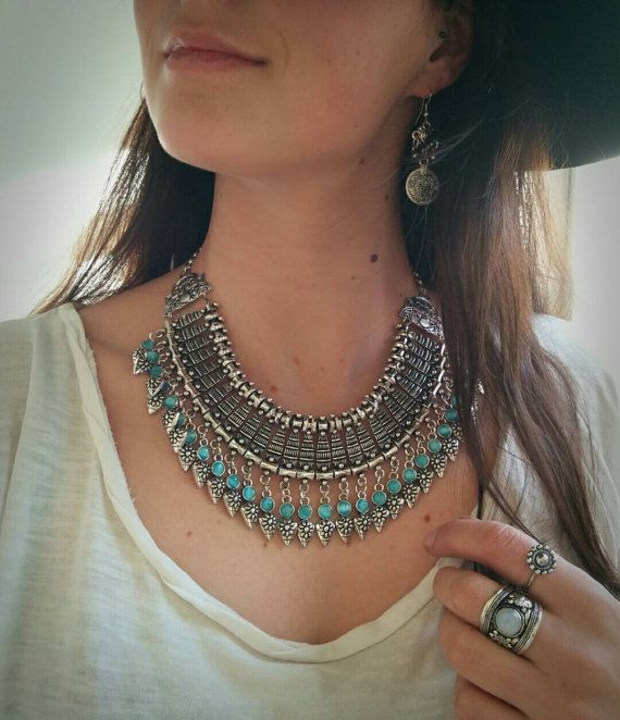 Hey, I found this really awesome Etsy listing at https://www.etsy.com/listing/209973147/turquoise-gypsy-choker-turkish-necklace