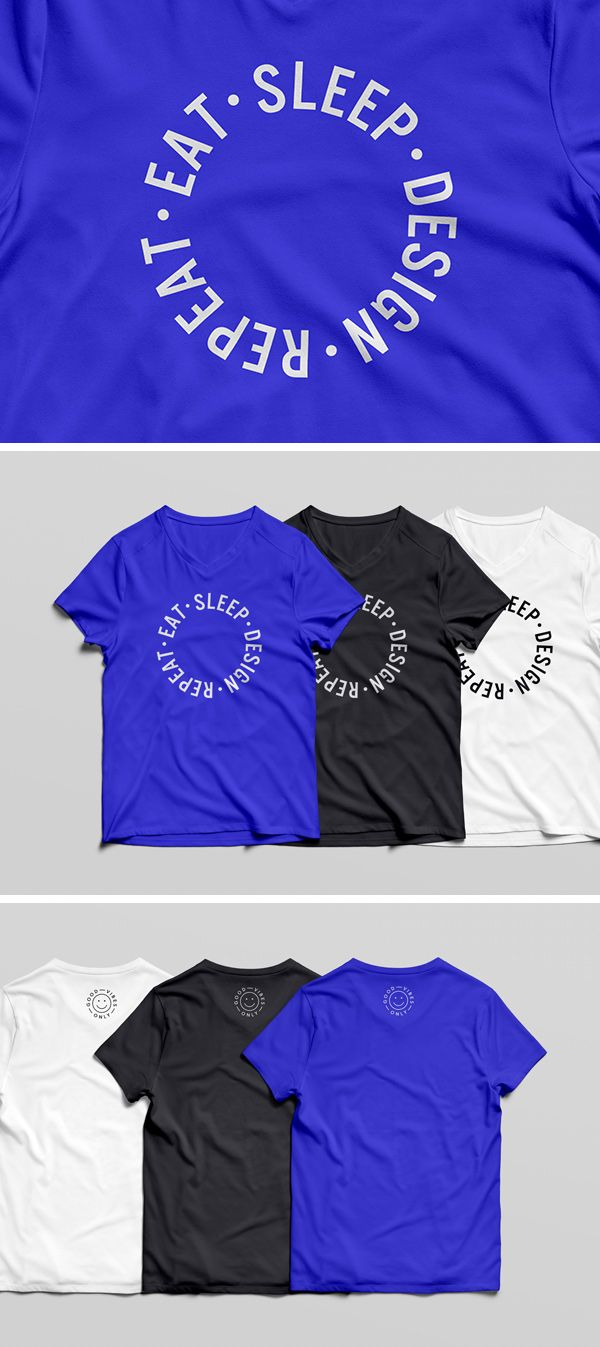 Today We Have For You A Nice Free V Neck T Shirt Mockup Psd Template Which Can Add To Your Inventory Make It Outstanding Includes Front And Back