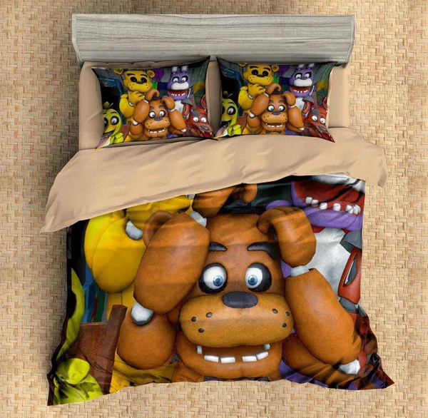 customize five nights at freddy's 3pcs duvet cover set