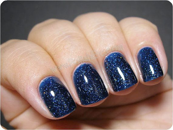 BEST SELLER. Dark blue nail polish. Illuminaughty. navy crelly with ...