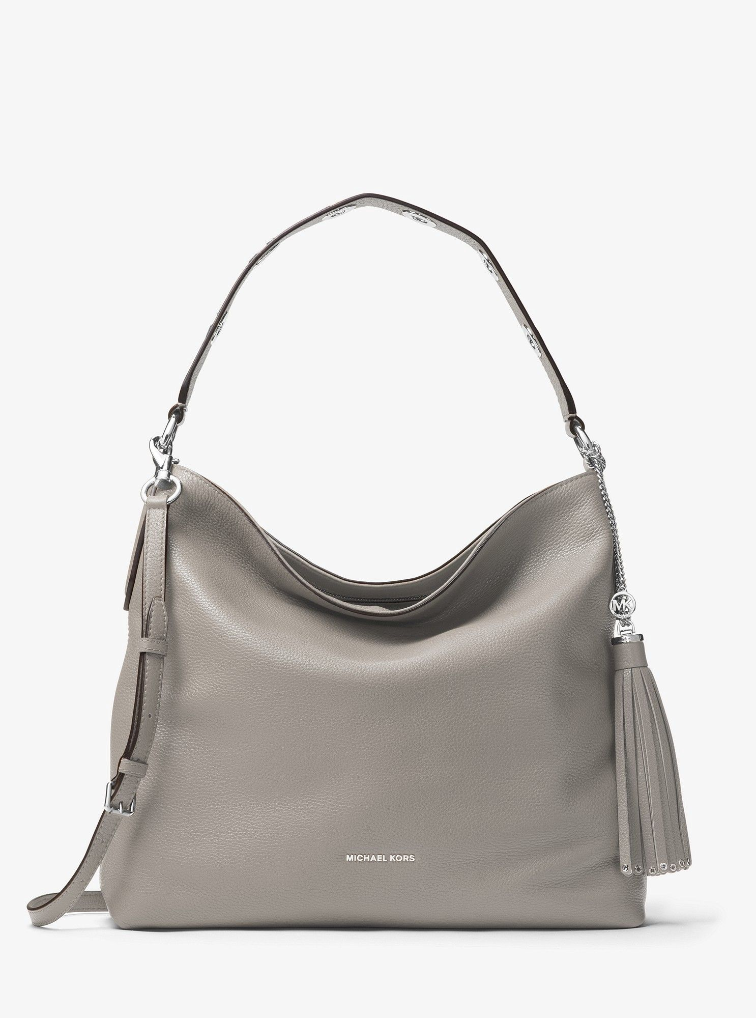 d701d01d9c71 Michael Kors Brooklyn Large Leather Shoulder Bag - Optic White ...
