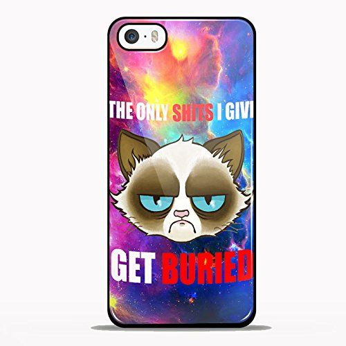 Cranky Cat Get Buried for iPhone 5/5s Black case