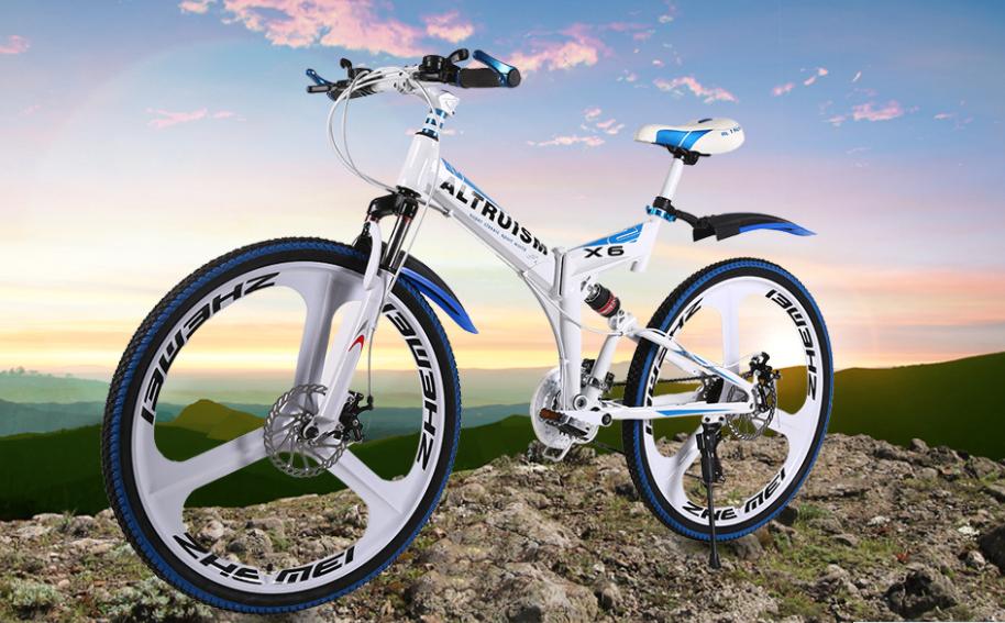 Altruism X6 Folding Bicycle 21 Speed Mountain Bike Aluminum Bikes
