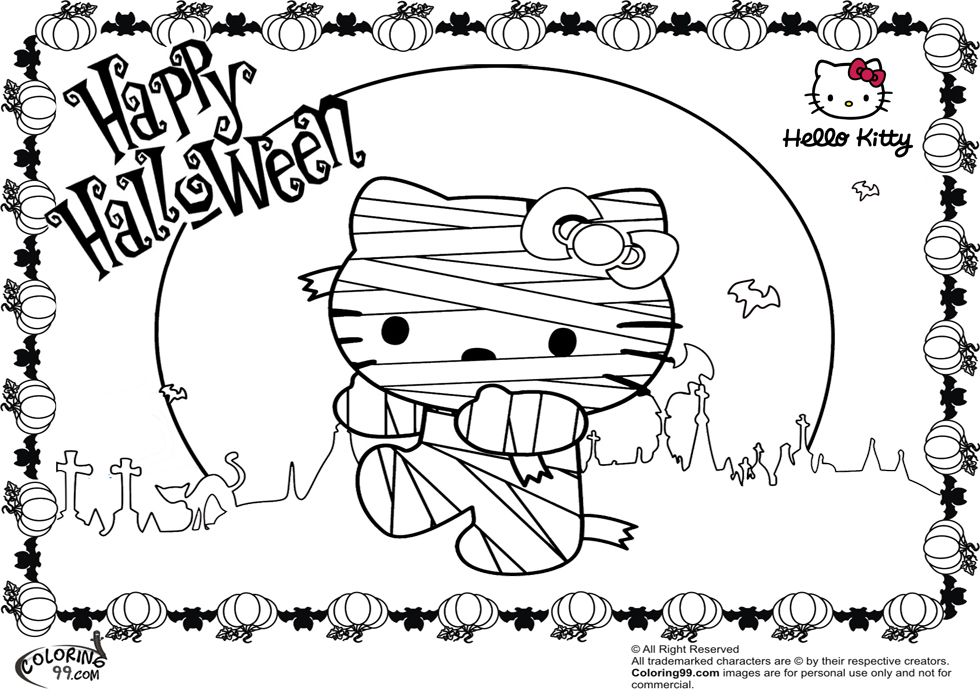 Hello Kitty Halloween Coloring Pages Minister Coloring Hello