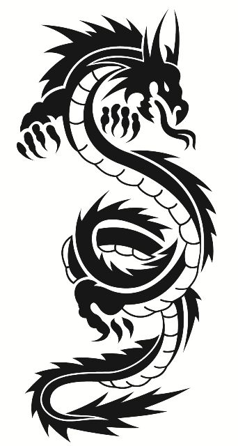 WINDOW CAR Nr17 CHINESE DRAGON DECAL VINYL STICKER FOR  WALL