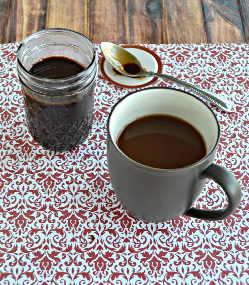 Peppermint Mocha Coffee Syrup BrunchWeek Recipe