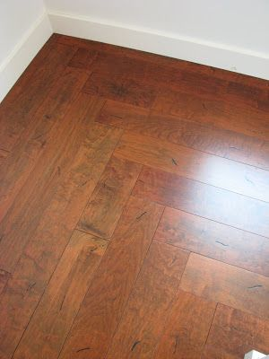 Wood flooring installed around a corner hallway decor for Wood floor 90 degree turn