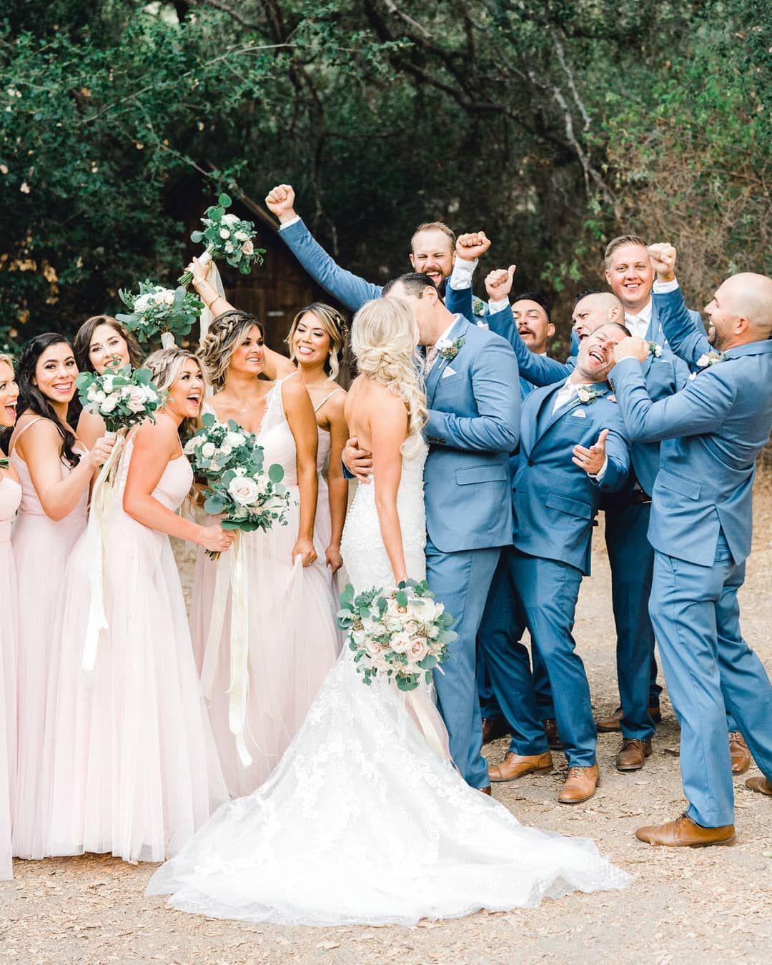 Groomsmen In Light Blue Suits Wedding Suits Groom Wedding