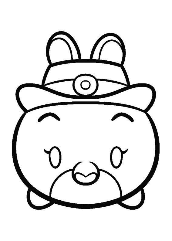 disney tsum tsum para colorear juddy hopps | dibujos paso a paso ...