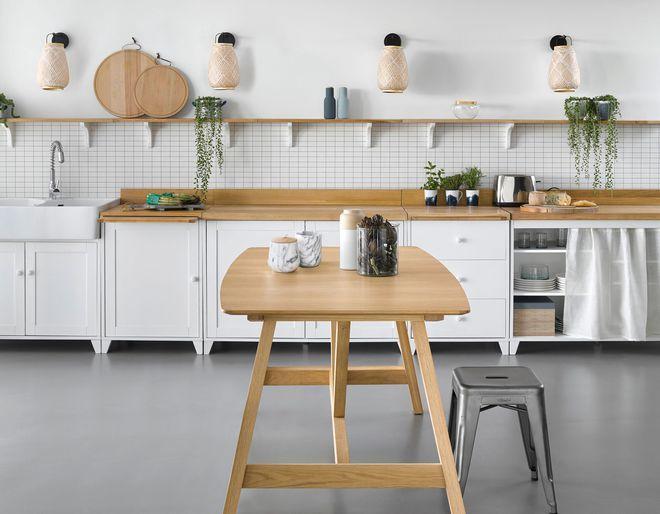 Un mobilier de cuisine à lu0027ancienne Cozinha Pinterest