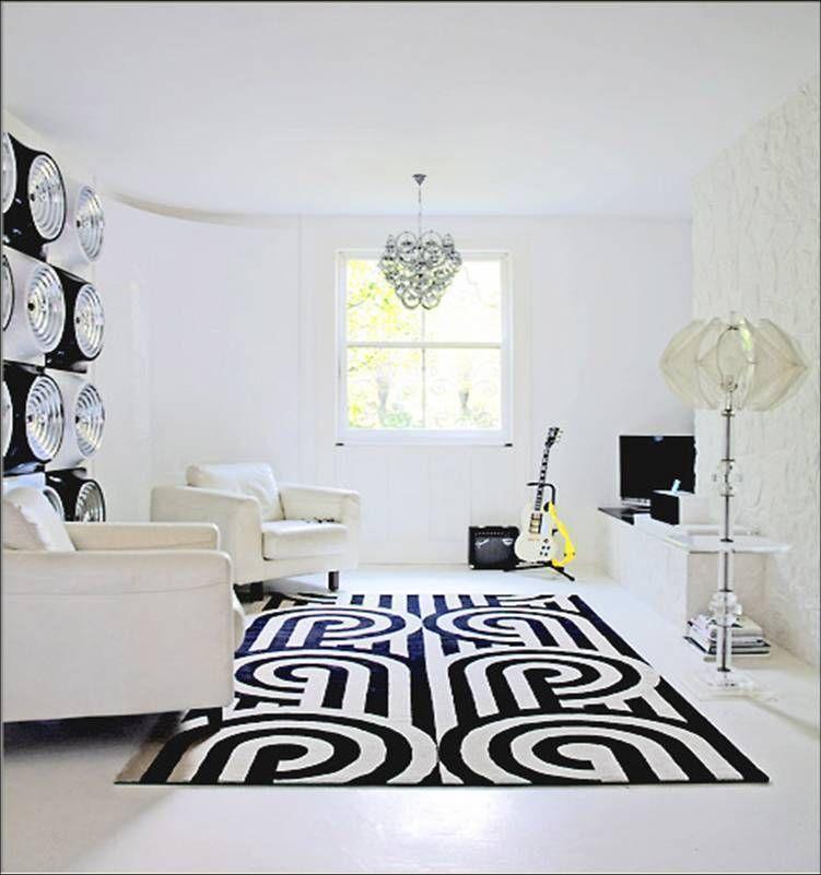 Schwarz Und Weiß Teppiche Machen Ihre Minimalistischen Hause Toll - wohnzimmer deko schwarz weiss