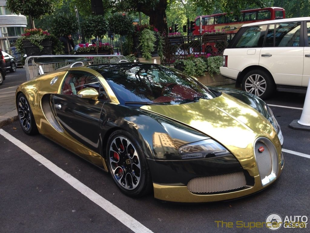 The Supercar Kids U2013 Golden Bugatti Veyron Grand Sport Hits London