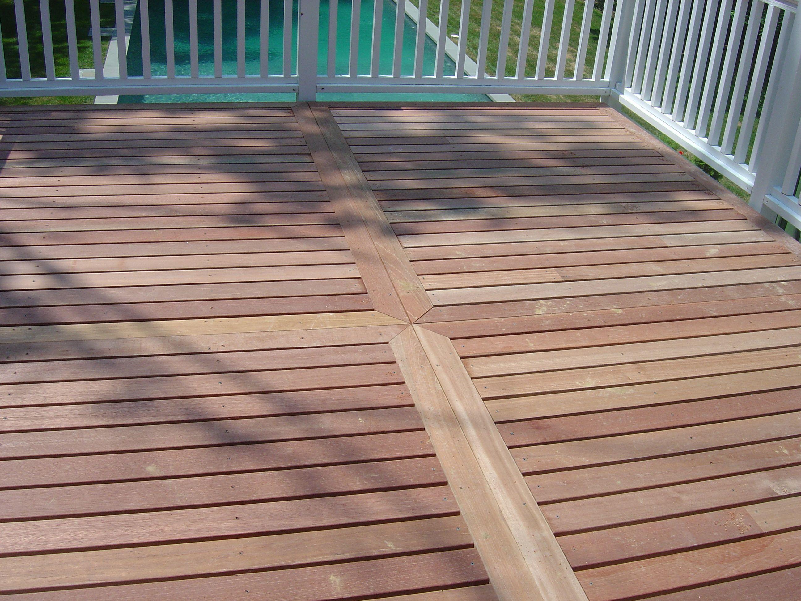 Cedar Deck With Pattern Cedar Deck Outdoor Living Deck Deck