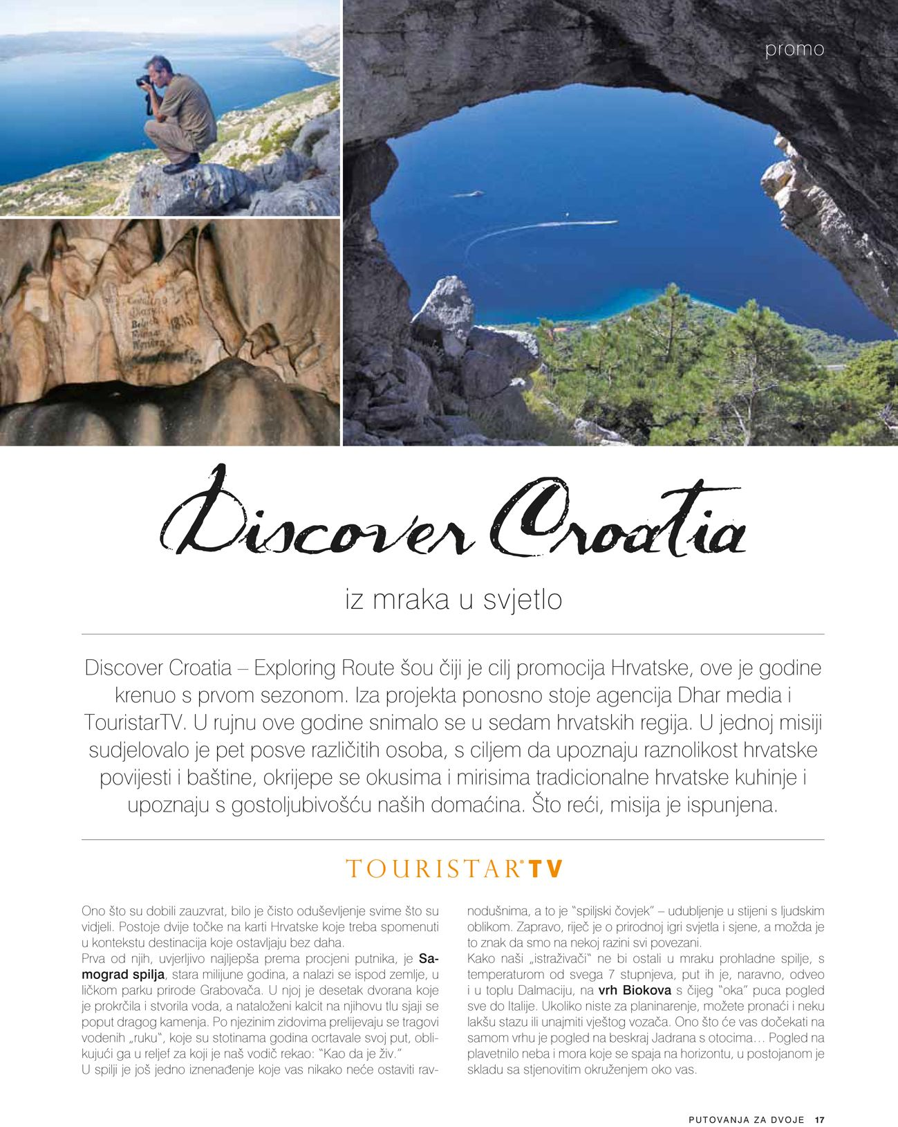 "#discovercroatia in the magazine ""Travelling for couples"""