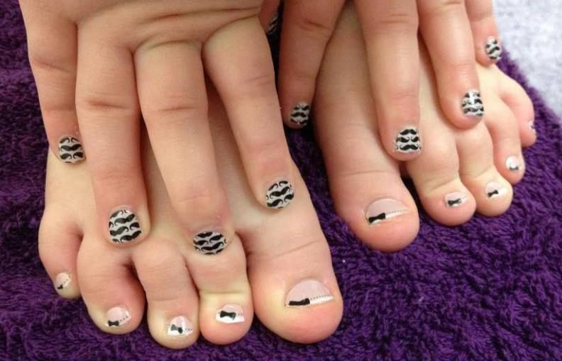 I mustache, have you tried Jamberry Nails? These are beyond adorable ...