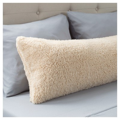 Sherpa Body Pillow Cover.Soft Sherpa Body Pillow Cover 52 X18 Ivory Yorkshire