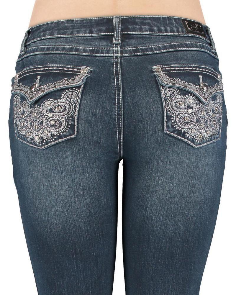 be0fb334b7f Great Looking Earl Jeans. Earl Jean Aztec Swirl SlimBoot Stretch Embellished  Pocket SIZE 8