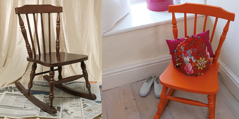 How To Spray Paint A Rocking Chair | Painted rocking ...