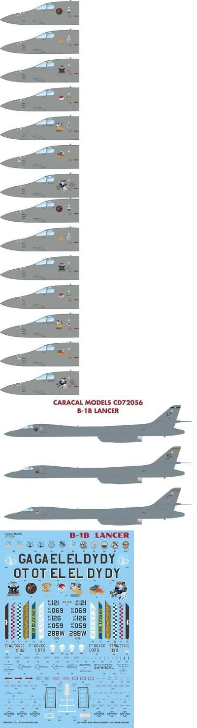 Decals 152933 Caracal Models 1 72 Scale Decal For B 1b Lancer Aircraft Kit Cd72056 Buy It Now Only 17 99 On Ebay Lancer Caracal Decals