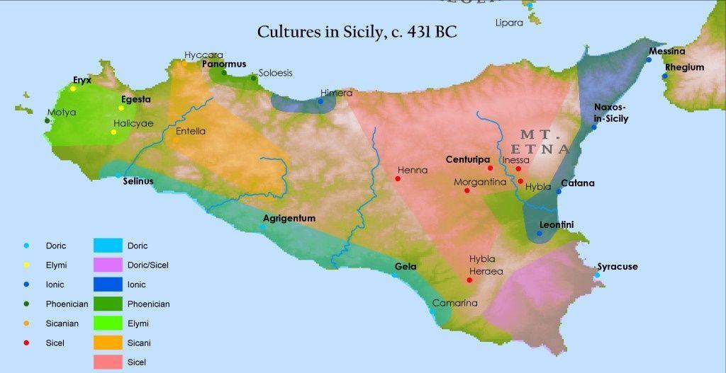 Cartina Sicilia Antica.Sicilia Ebbica Greca Sicilia Mappa Dell Italia Mappe