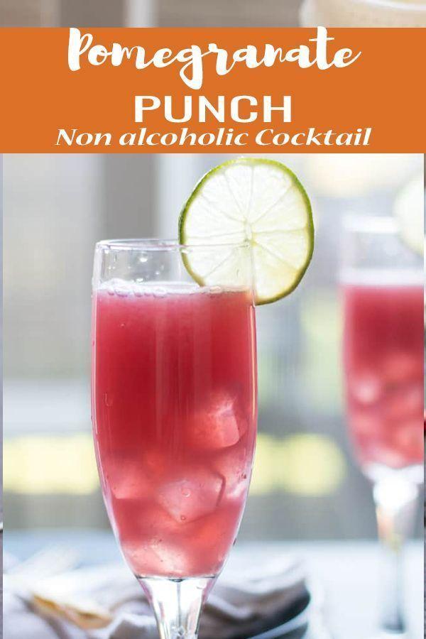 Ein leckerer Party Drink-Granatapfel-Punsch ist eines der besten alkoholfreien R...