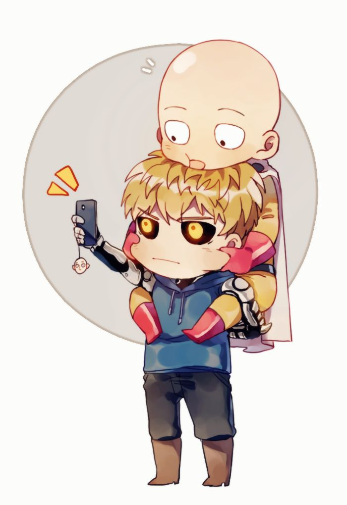 Chibi Selfie G E N O S A I Saitama One Punch Man One Punch Man