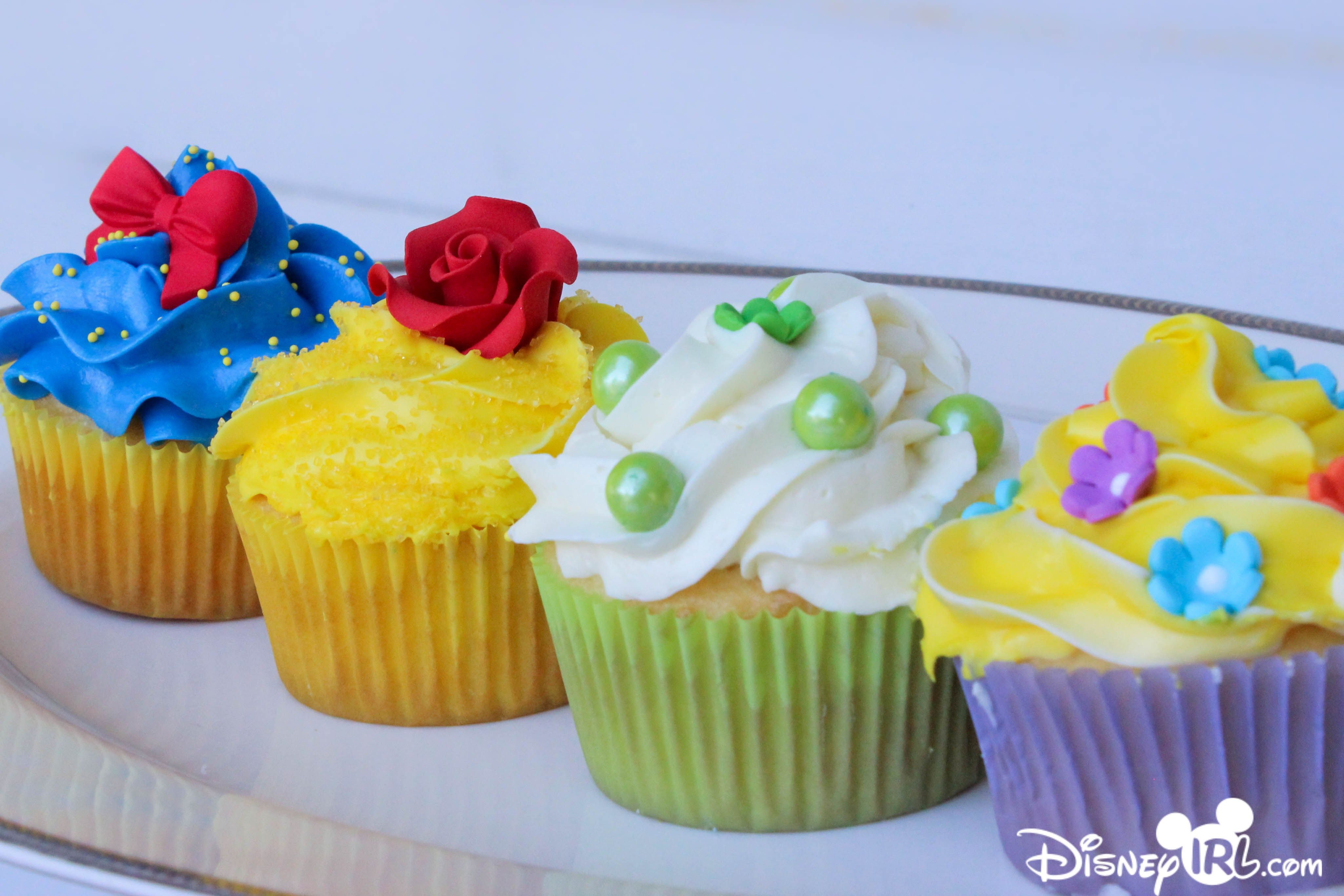 Princess Inspired Cupcakes Disney Snow White Beauty And The Beast Rapunzel