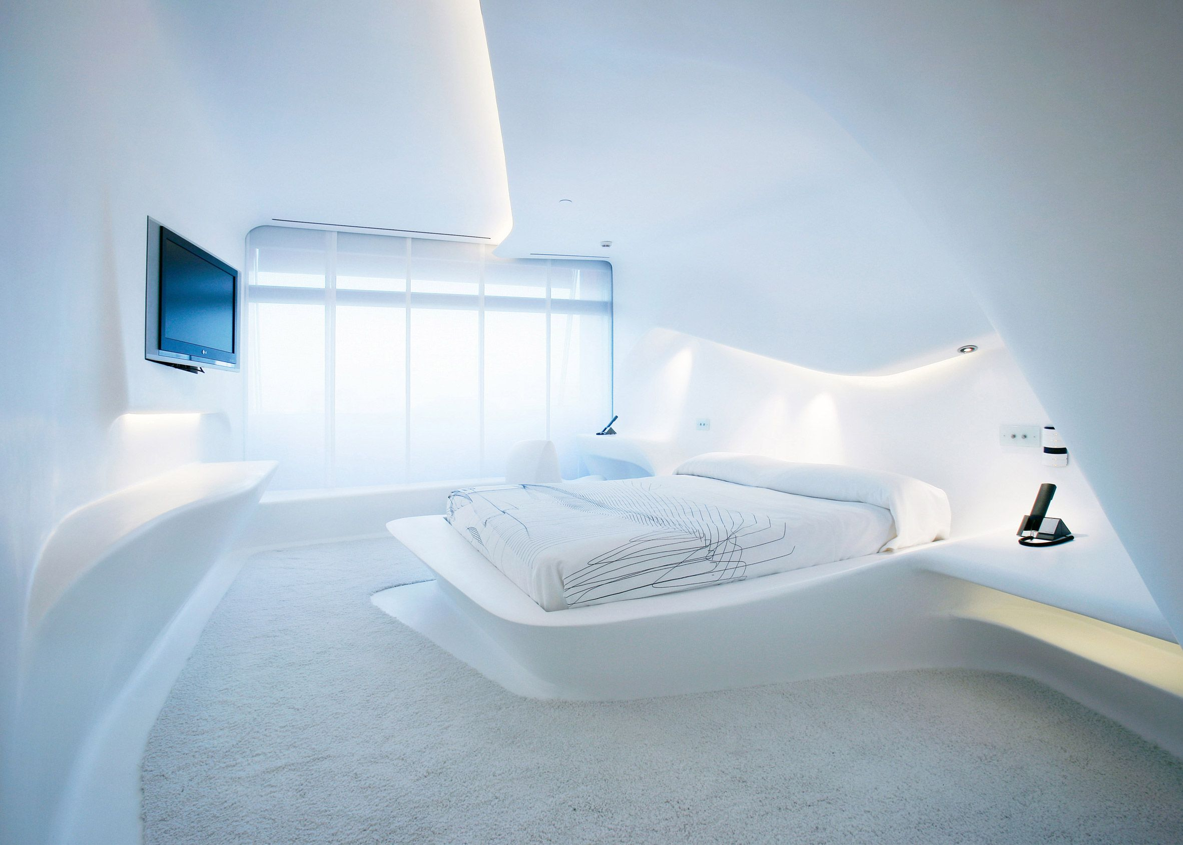 Moby described a hotel room by the late British architect Zaha ...