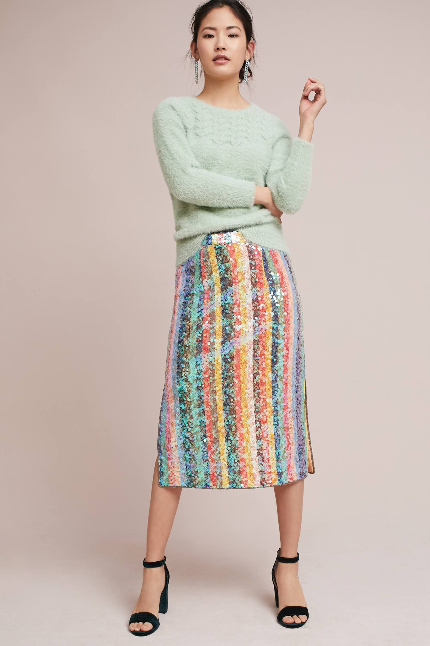 6be79f1a6 Shop the Sequined Palette Skirt and more Anthropologie at Anthropologie  today. Read customer reviews