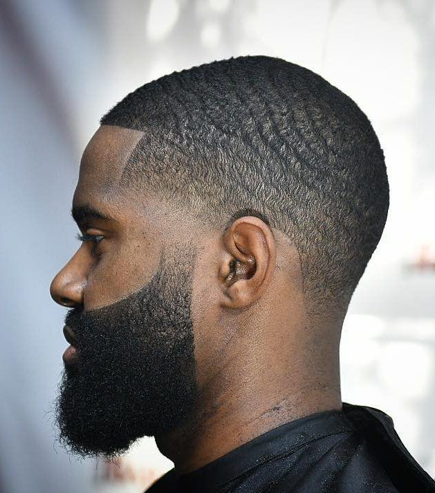 Waves Taper Fade Disconnected Beard Black Men Haircuts