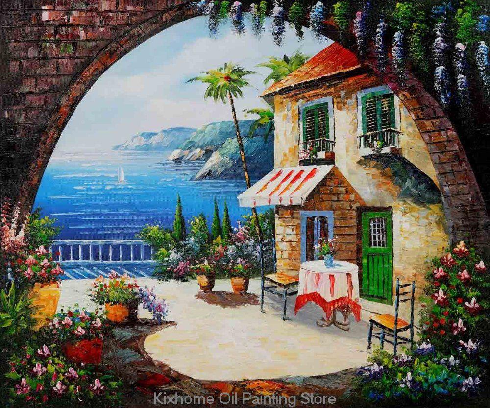 Cafe Scene Paintings Mediterranean Scenes Cafe At