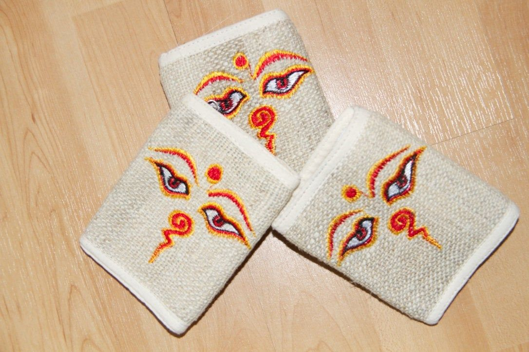 Hemp Wallet Purse Handmade Boho Hippie Made in Nepal