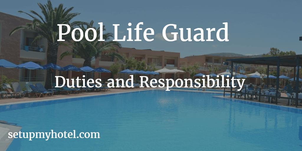Hotel Pool Life Guard Swimming Pool Attendant Life