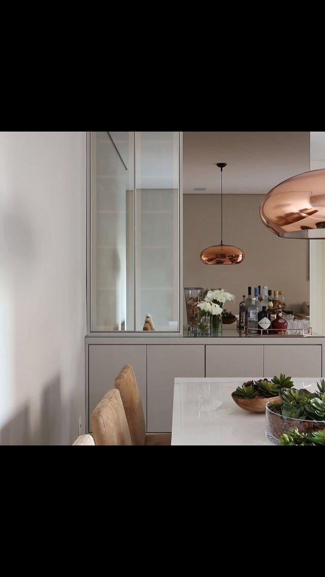 Aparador Buffet Com Cristaleira De Vidro Espelhado E Espelho Na