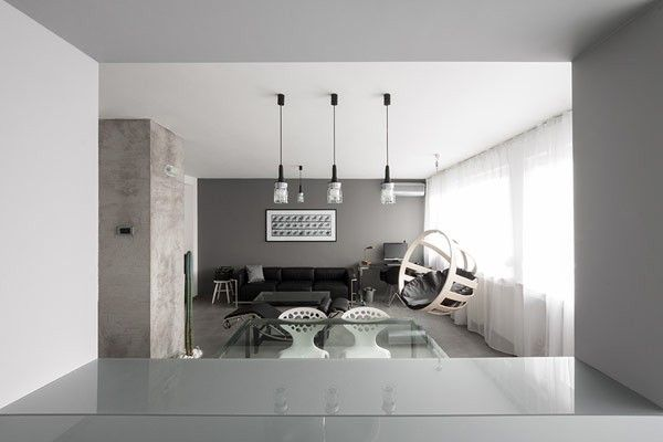 Unterhaltung Konsole Die Speicherung In Kaktus In Ein Schwarz Weiß  Wohnzimmer Gestaltung Wohnung Minimalistischen Andreja Bujevac 21 Schwarz  Und Weiß (10)