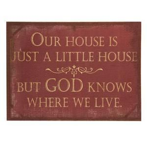 Red Burlap God Knows Canvas