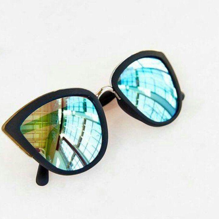Cat Eye Mirror Sunglasses
