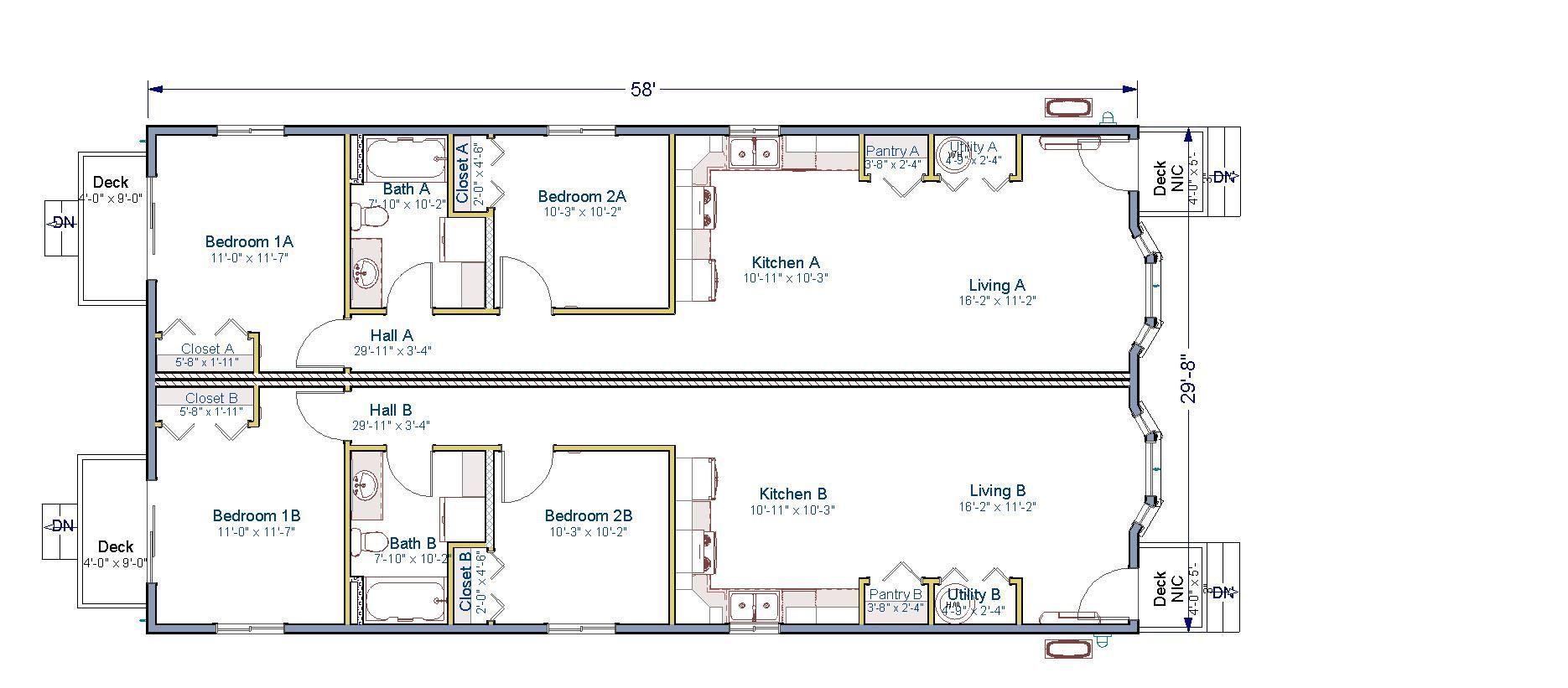 30x58 Duplex