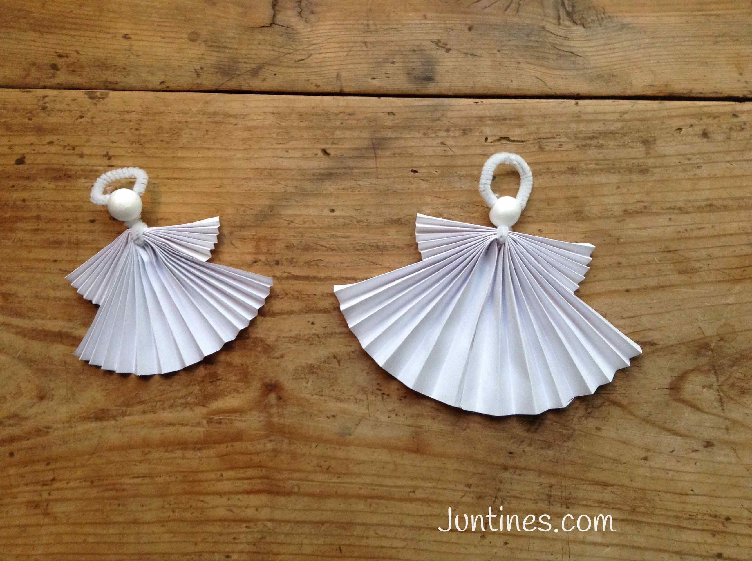 Origami for kids origami para ni os origami angel for Adornos navidenos origami paso a paso