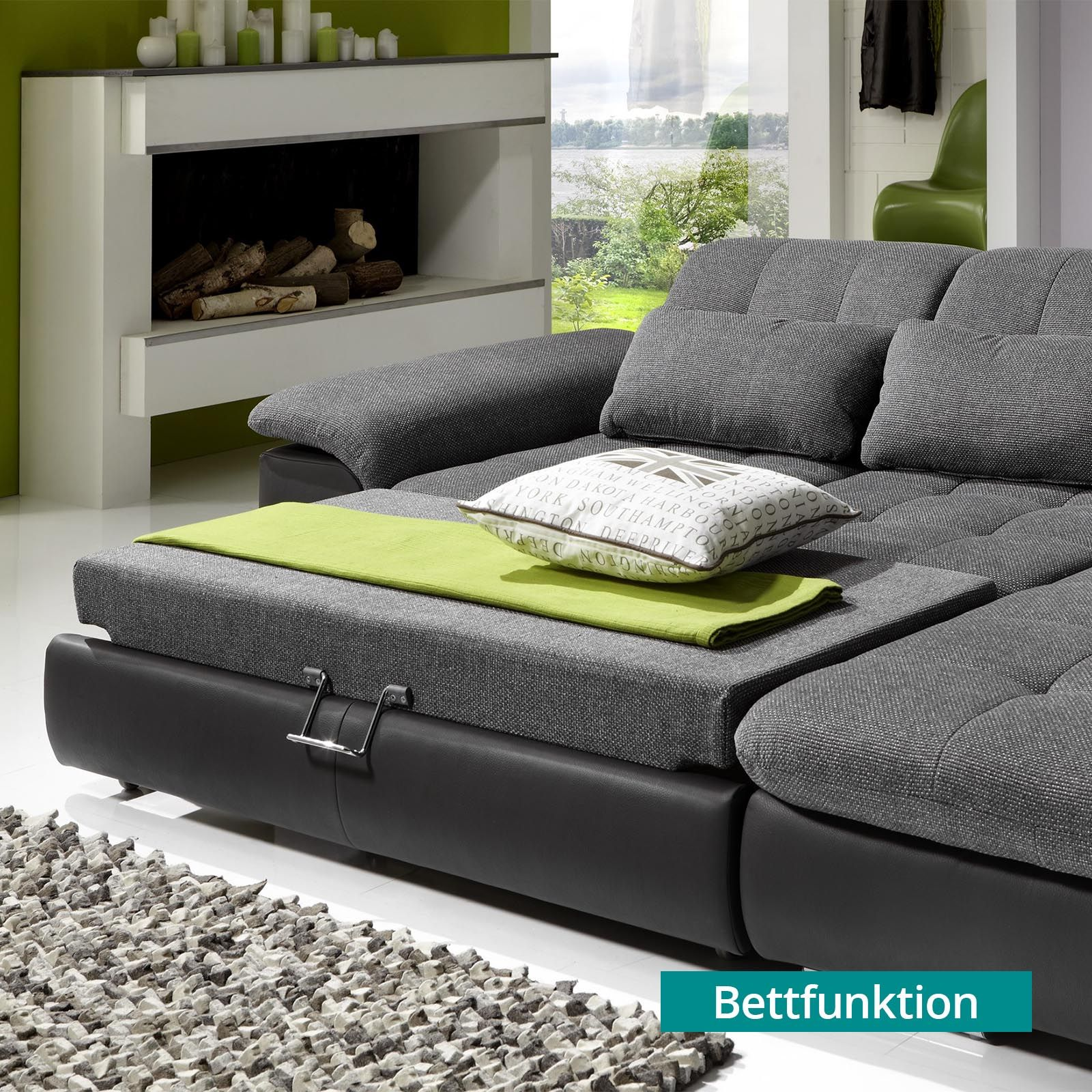 Megapol Sofa Isola Can A Leather Be Reupholstered Wohnlandschaft Individuell Anthrazit Silver Modern