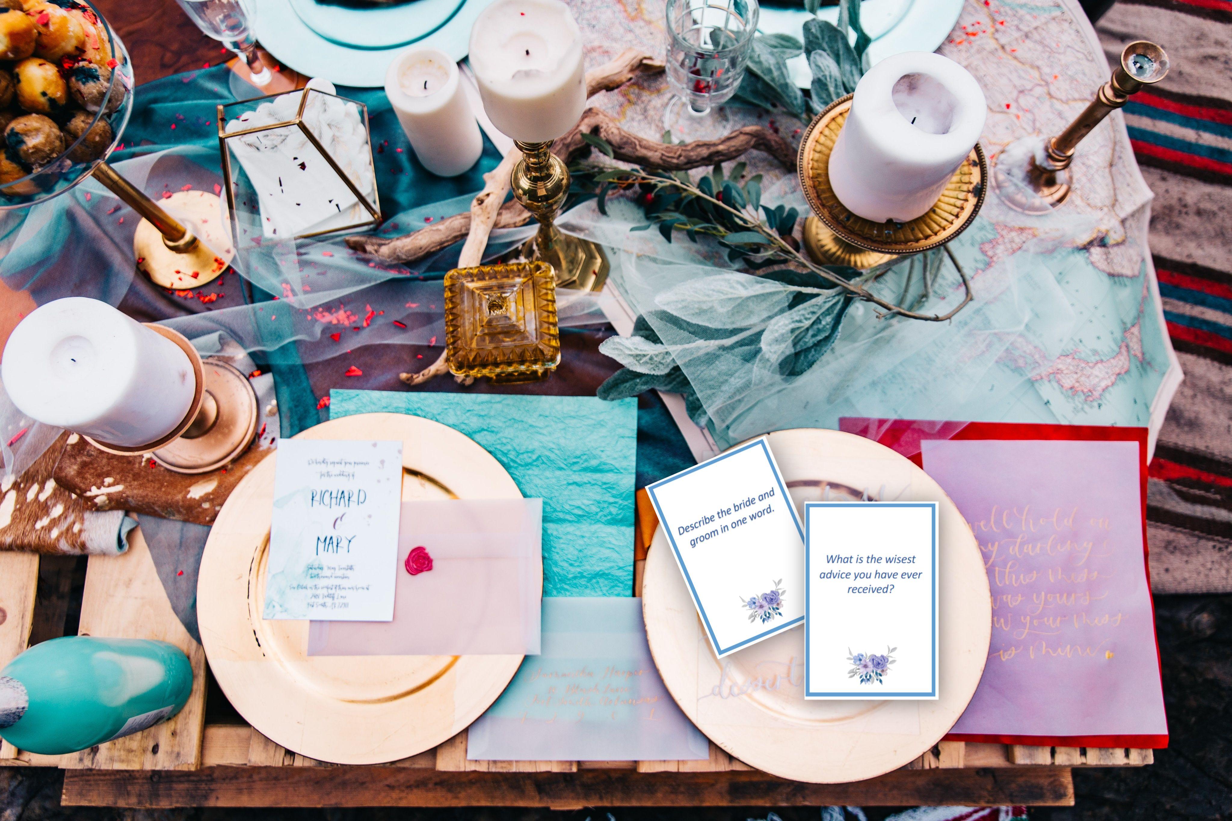 Wedding Conversation Starter Cards, Conversation Starters
