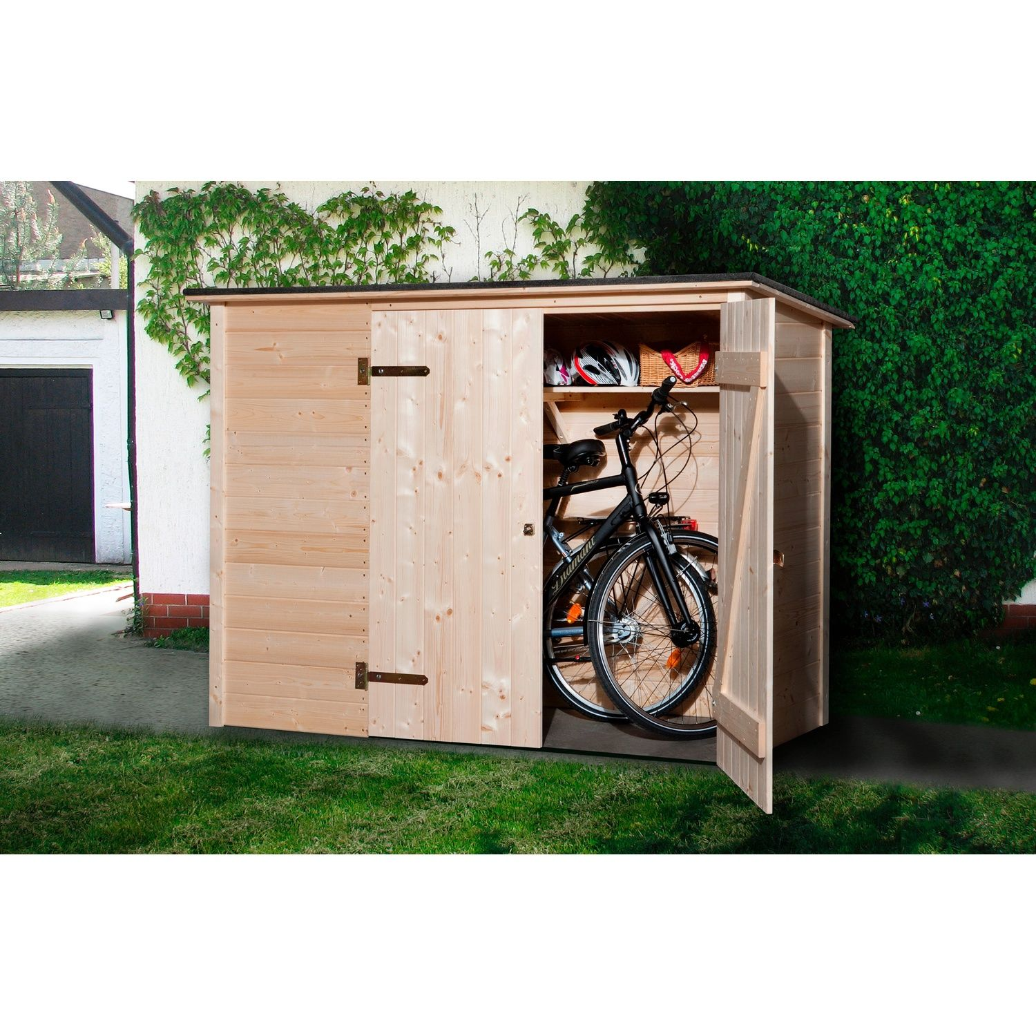 weka fahrrad box 208 cm x 84 cm fahrradgarage fahrradkeller und fahrradhaus. Black Bedroom Furniture Sets. Home Design Ideas