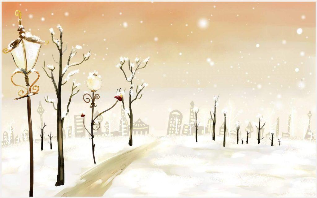 Line Art Painting Hd : Winter art painting wallpaper